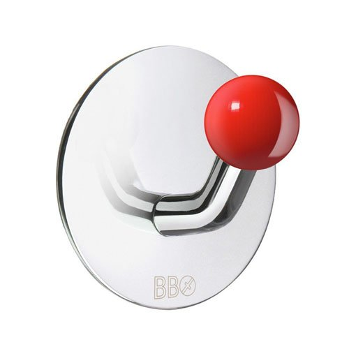 Beslagsboden Wall Mounted Single Hook Knob Finish: Red