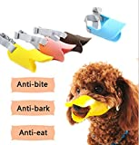 Fashion 1989 Pet Dog Muzzle Mask Silicone Moderate Hardness Duckbill Muzzle for Dog Puppy 4Colors 4Sizes (L 1yellow)