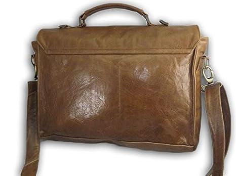 borsa tracolla in pelle cuoio 38Lx36Hx10P cm mod Borsa da Postina - Vintage 010 vq2Y1s