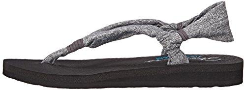 Skechers Cali Women's Meditation-Summer Breeze Flip Flop, Grey, 9 M US