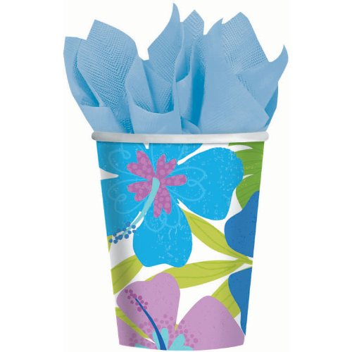 Amscan Floral Paradise Cool 9 oz Paper Cups (8 per package)