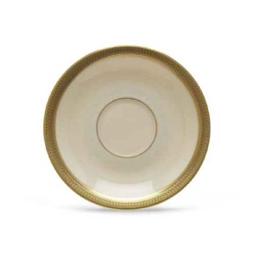 Lenox Lowell Gold Banded Ivory China Saucer (Gold Banded Saucer China Ivory)