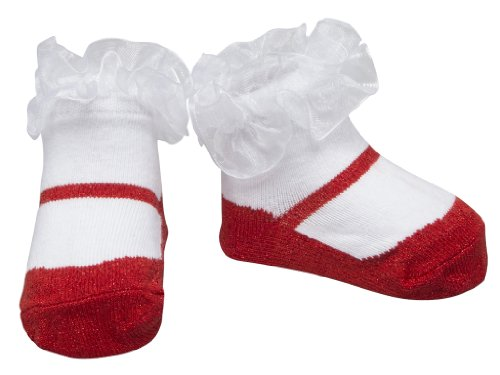 Baby Infant Girl Shoe Look Socks-Anti slip Soles - Soft Combed Cotton - 1 Pair - Gift for newborn