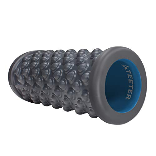 Teeter Massage Foam Roller – Deep Tissue Muscle Relief to Boost Recovery, Flexibility – 13 or 26 inch, 2 Textures/densities – Back Pain Relief, Sports Massage, Myofascial Release