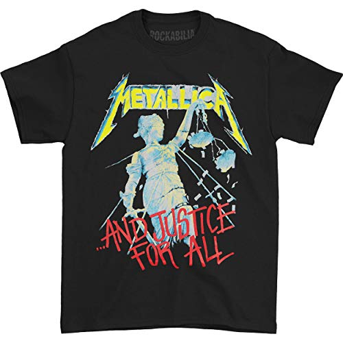 Metallica Justice Adult T-shirt - Black (XXX-Large)