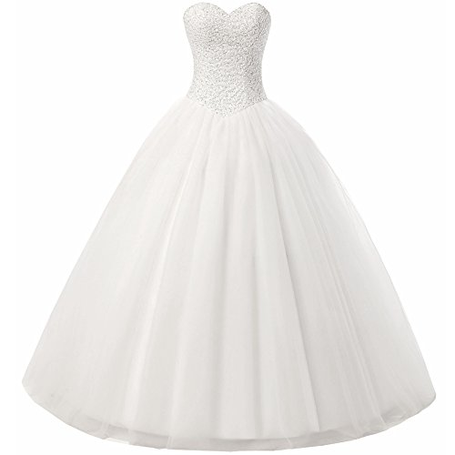 Beautyprom Womens Ball Gown Bridal Wedding Dresses Ivory Us16