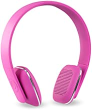 Innovative Technology Rechargeable Wireless Bluetooth Modern Headphones with Rubberized Finish, Pink