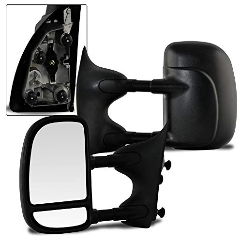 Make Auto Parts Manufacturing Premium Left/Driver Side Manual Operated & Folding Telescopic Type Non-Heated Towing Mirror For Ford Super Duty F250 / F350 / F450 / F550 1999-2007 - FO1320226 -