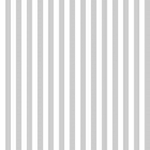 Dollhouse Wallpaper Victorian Shoes Stripe Grey ()