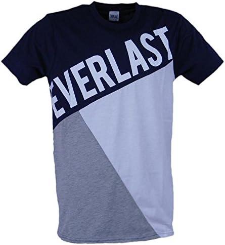 Everlast Tshirt Men Jersey Patchwork, multicolor (Blue Navy Grey ...