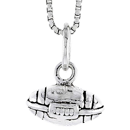 Sterling Silver Football Charm, 1/4 inch tall ()