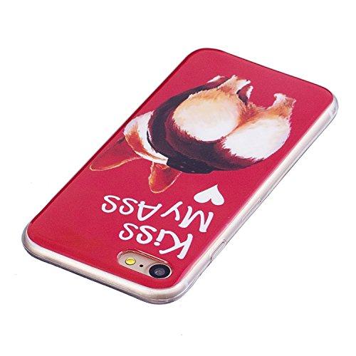 Custodia per iPhone 7 (2016) / iPhone 8 (2017) Cover ,ZXLZKQ sexy asino Alta qualità Morbido TPU Silicone Coperchio Cover Protezione Custodia Soft Shell Skin Case per iPhone 7 (2016) / iPhone 8 (2017)