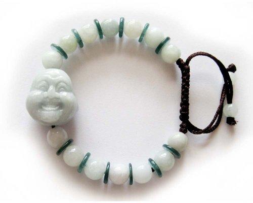 Jadeite Jade Buddha Beads Adjustable Bracelet