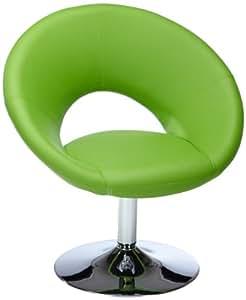 Amstyle Malta - Sillón de relajación, fabricado en piel sintética, color verde