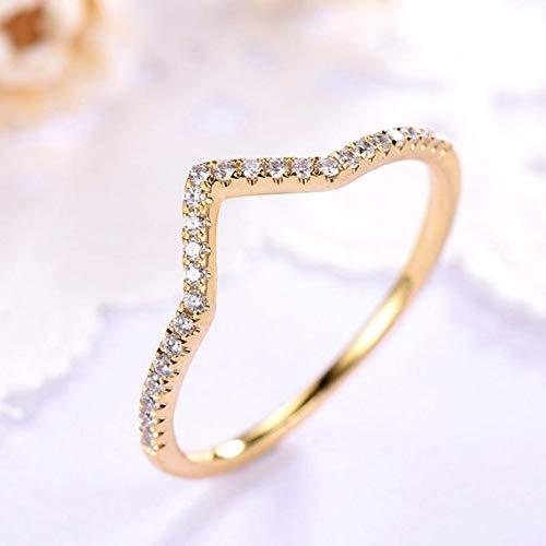Amazon Com V Shape Cz Diamond Wedding Ring Band Engagement 14k