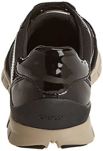 A Mujer bajo Geox Negro Black D Tobillo Sukie chestnut FwqnaRET