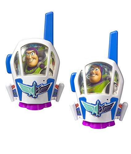 Toy Story 4 Buzz Lightyear Kids Walkie Talkies for Kids Static Free Extended Range Kid Friendly Easy to Use 2 Way Radio Toy Handheld Walkie Talkies Team Work Play Indoors or Outdoors