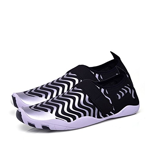 Dive gracosy Yoga Beach Swim Water Dry Men Surf Quick Sports Silvery Shoes Barefoot Beach For Shoes Women Shoes Aerobics vxwvBqOr6