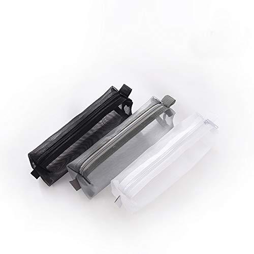 - Kinhshion Mesh Pen Bag Pencil Case Makeup Tool Bag Storage Pouch Purse
