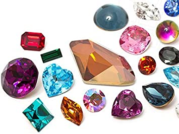 gogoritas Piedras Preciosas del Strass   Chatons   Semi-Perlas Swarovski Elements   4.0-22.0mm, Multi Form Mix, 1440 Piezas (10 Gross)