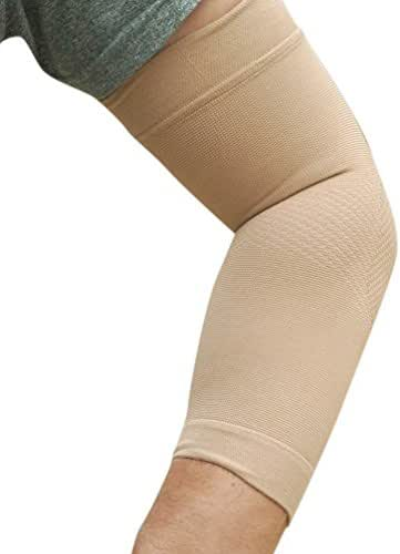 BeVisible Sports Elbow Compression Sleeve Men & Women – Feel The Difference with Our Innovative Pattern Weave - Best Support for Tennis Elbow, Tendonitis, Golfers Elbow, RSI & Recovery - 1 Sleeve