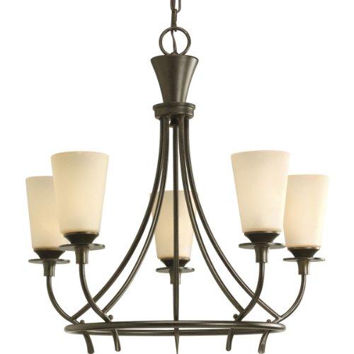 - Progress Lighting P4006-77 5-Light Cantata Chandelier, Forged Bronze