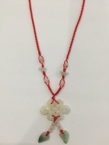 Chinese Feng Shui Necklace Jade stone Symbol of Infinity Happiness and Lucky