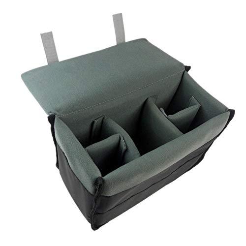 DRF DSLR Camera Case Insert Padded Liner Nylon Pouch for Messenger Bag or Backpack BG-167 (Grey)