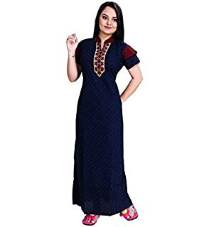 TRUNDZ Women s Cotton Full Length Nighty (Red)  Amazon.in  Clothing ... 3e7a6307a