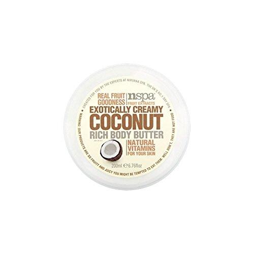 N-Spa Fruchtextrakte Exotisch Creamy Rich-Coconut Body Butter (200 ml) - Packung mit 6