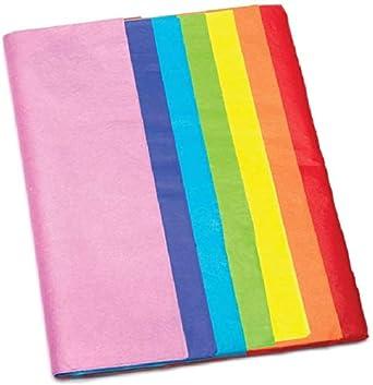Baker Ross Hojas de Papel Seda en los Siete Colores del Arco Iris (Pack de 28) - Actividad de Manualidades Infantiles para Envolver, Crear Flores y Decorar: Amazon.es: Amazon.es