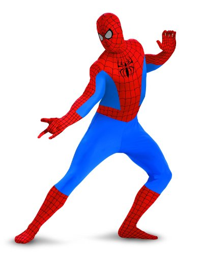 Disguise Marvel Spider-Man Lycra Bodysuit Mens Adult Costume, Red/Blue, XX-Large/50-52 -