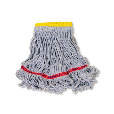 RCPC151BLU - Rubbermaid Swinger Loop Wet Mop Heads, Cotton/synthetic, Blue, Small