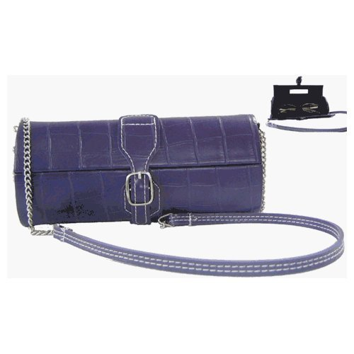Astucci E1 Eyeglass Bag - Purple - Eyewear Crocodile