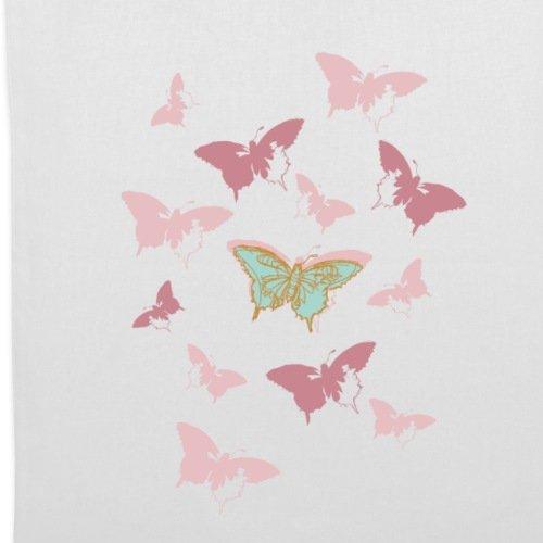 Spreadshirt Animal Planet Schmetterlinge Schwarm Stoffbeutel Weiß AuUk4ChnDy
