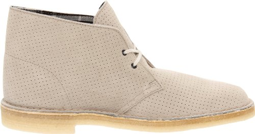 Clarks Originali Mens Desert Boot Grigio Perforato