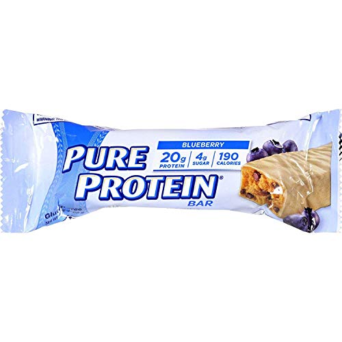 (Pure Protein Bar, Blueberry with Greek Yogurt Style Coating, 1.76 Ounce)