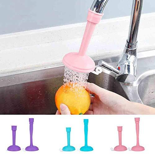 Cocina Ajustable Grifo de ahorro de agua Splash Regulador de agua V/álvula Cabezal de ducha Filtro Herramienta de limpieza de cocina-Azul