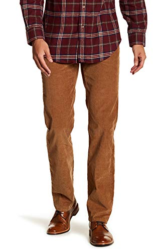 - Brooks Brothers Men's Five Pocket Casual Corduroy Pants (Brown, 33W x 32L)