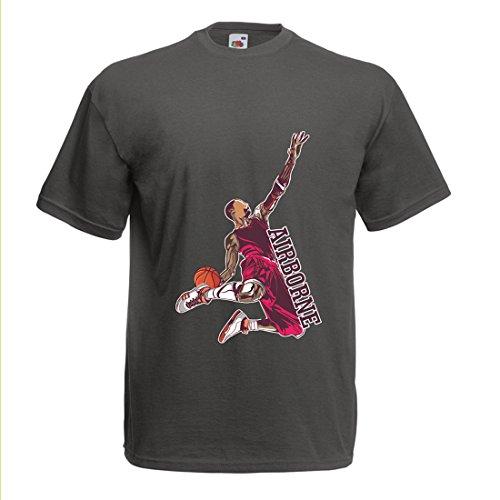 Camisetas Hombre Sé el señor de la Gravedad, Baloncesto Freestyle Dunk - Me Encanta Este Juego (Medium Grafito Multicolor)