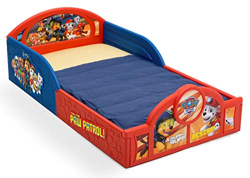 Nick Jr PAW Patrol Sleep and Play Toddler Bed with Attached Guardrails