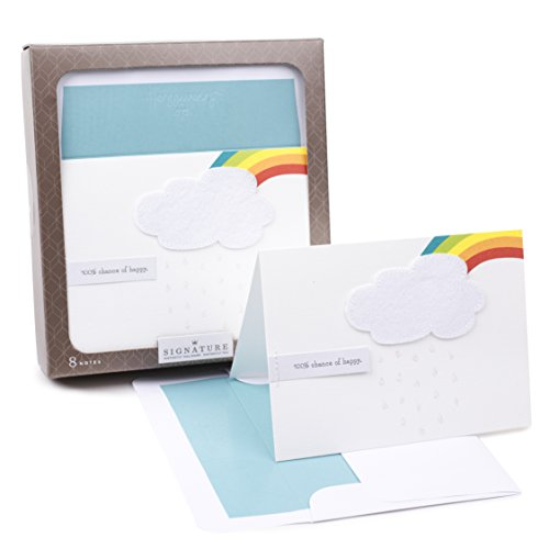 (Hallmark Signature Blank Notes, Rainbow and Cloud (8 Cards with Envelopes))