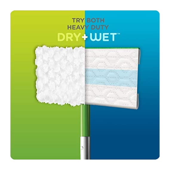 Swiffer Sweeper Heavy Duty Mop Pad Refills for Floor Mopping and Cleaning, All Purpose Multi Surface Floor Cleaning Product, 20 Count, 2 Pack 8 2x More Trap + Lock of dirt, dust, and hair vs. multi-surface Sweeper dry cloth Over 30,000 3D fibers brush into tight spaces gathering dust, dirt, and pet hair Great on Grout and any other floors from tile to finished hardwood