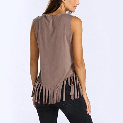 Rond Sans Pas Et Dbardeur Sexyville Shirt Manche T Kaki Femmes Gland Tops Col Impression cher Gilet Papillon Chemises Casual ww8tHCq