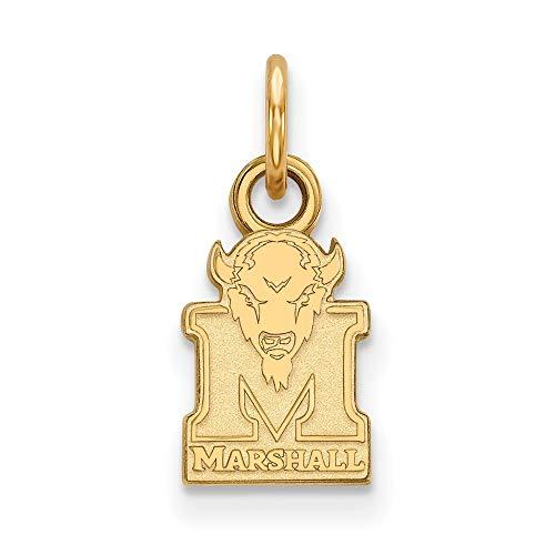 - Roy Rose Jewelry 10K Yellow Gold LogoArt Marshall University X-small Pendant/Charm