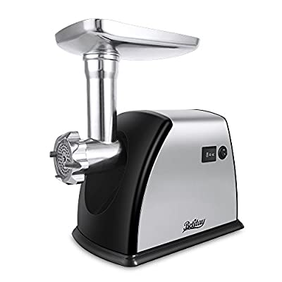 Betitay Electric Meat Grinder, 1800 Watts Max Locked Power Heavy Duty Meat Grinder Stainless Steel Mincer Food Grinder with 3 Cutting Plates, Kubbe Attachment and Sausage Stuff Makers, ETL Approved