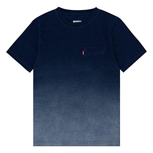 Levi's Boys' Little Basic T-Shirt, Indigo/Moonbeam, 7 by Levi's