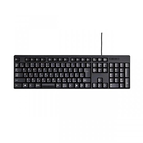 ELECOM Full size wired keyboard Japanese 109 key [Black] TK-FCM085BK (Japan Import) (Trade Furniture Mart)