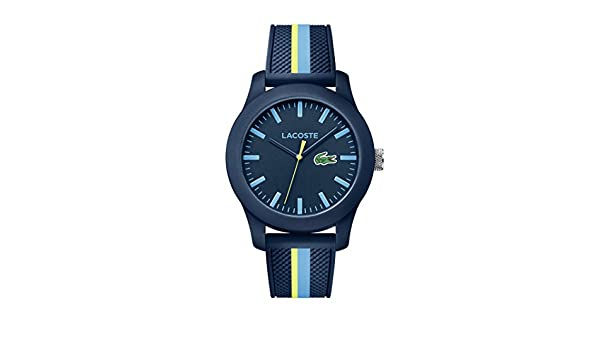 Amazon.com: Lacoste 12.12 Blue Dial Silicone Strap Mens Watch 2010930: Watches