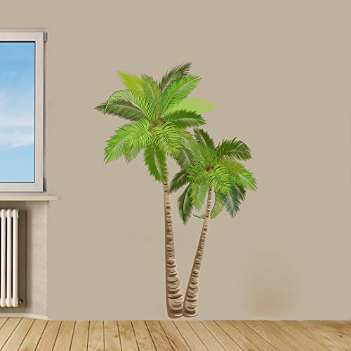 Tropical Palm Trees Removable Wall Decal Sticker ()